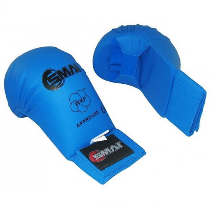 Перчатки для карате SMAI WKF (SM P101) Blue без защиты большого пальца р. L